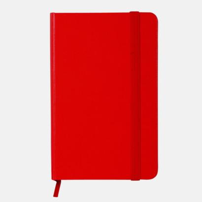 Röd anteckningsbok i konstläder i A6 format