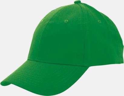 Grön Billiga bomullskepsar med reklamtryck eller -brodyr