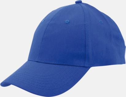 Blå Billiga bomullskepsar med reklamtryck eller -brodyr