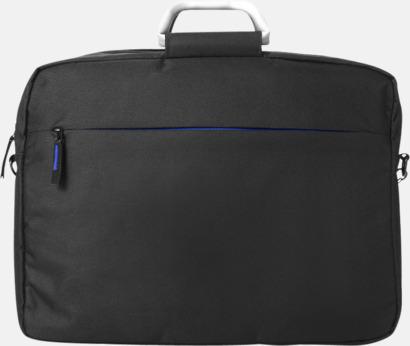Svart/Royal Laptopväskor med bärhandtag i aluminium - med reklamtryck