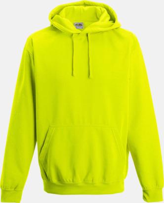 Electric Yellow Huvtröjor i neonfärger med reklamtryck