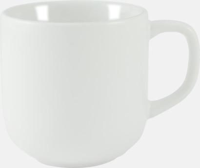 Vit 25 cl kaffemuggar med reklamtryck