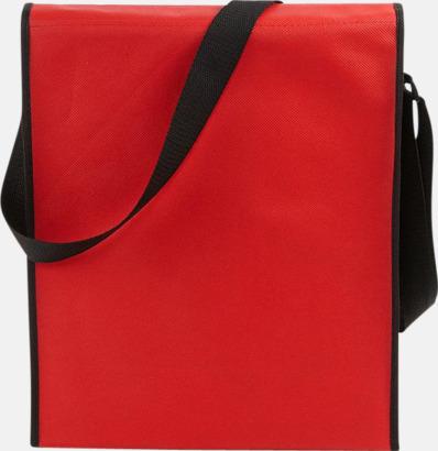 Röd/Svart (baksida) Axelremsväskor med eget tryck