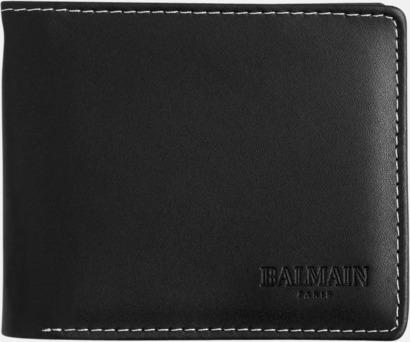 Plånbok (svart) Exklusivt presentset från Balmain med reklamtryck