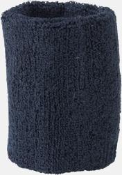 Marinblå Armsvettband med brodyr