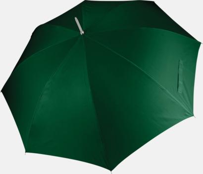 Bottle Green Tvåfärgade golfparaplyer med reklamtryck