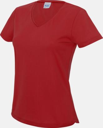 Fire Red Damtröjor i funktionsmaterial med reklamtryck