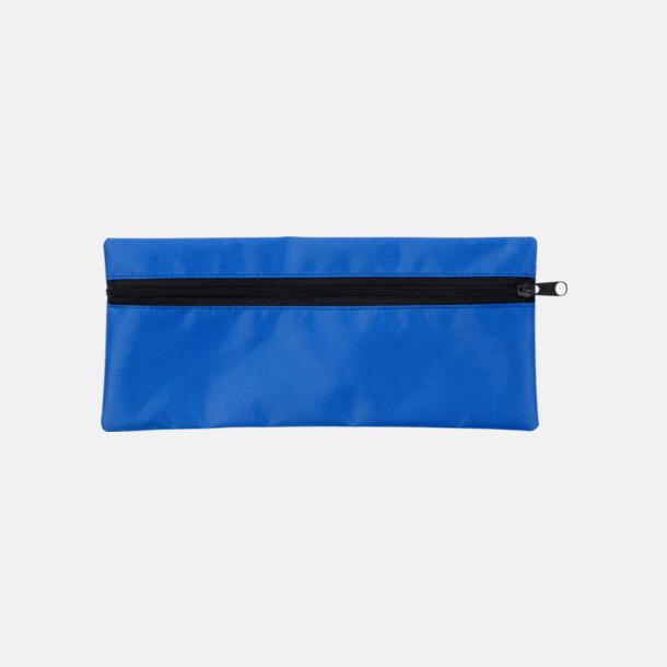 Blå Klassiska pennskrin med tryck