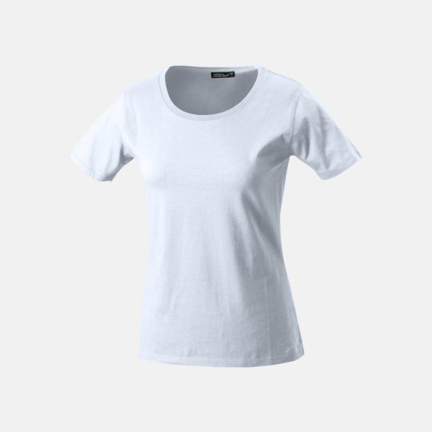 Vit T-shirtar av kvalitetsbomull med eget tryck