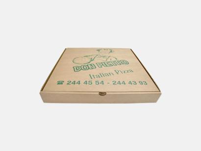 Klassiska pizza kartonger med reklamtryck