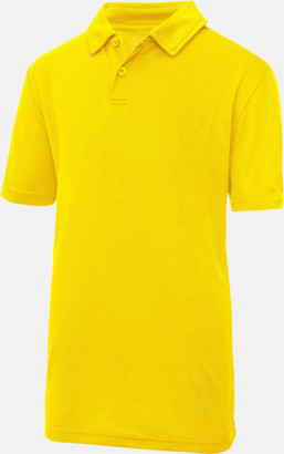 Sun Yellow Barnpikétröjor i många färger - med reklamtryck