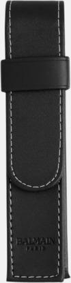 Konstläderfodral Balmain kulspetspenna med matchande fodral - med reklamlogo