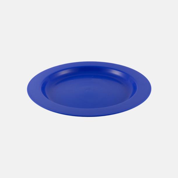 Flat (blå) Djupa och flata tallrikar för utflykten