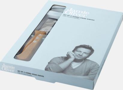 Presentförpackning Jamie Olivers grillknivar med reklamlogo