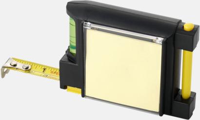 Måttband och notisblock med eget reklamtryck