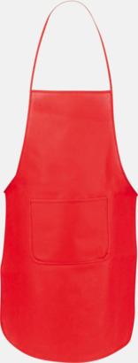 Röd Billiga förkläden i många färger - med reklamtryck
