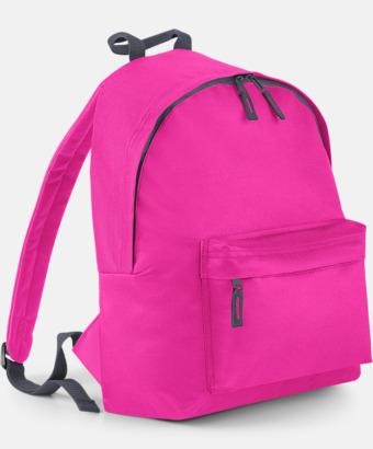 Fuchsia/Graphite Grey Klassisk ryggsäck i 2 storlekar med eget tryck