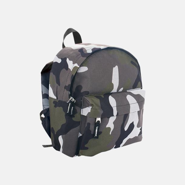 Camouflage Juniorryggsäckar med reklamtryck