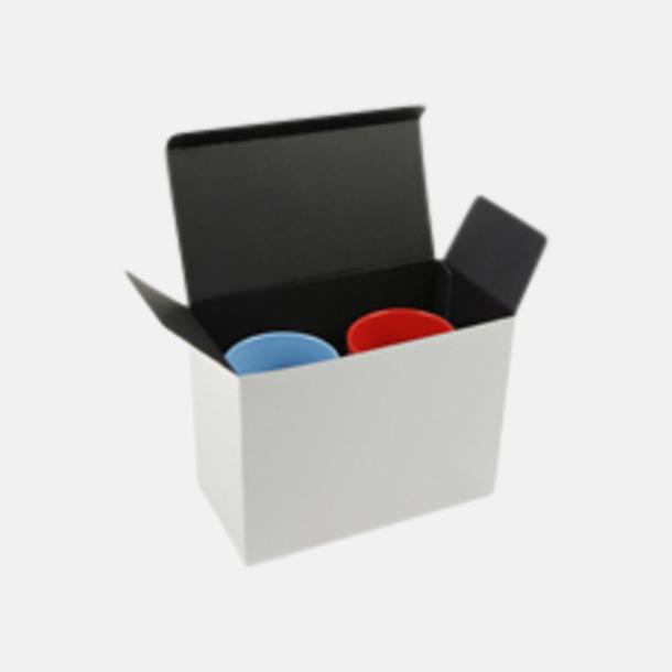Presentförpackning 2-pack (se tillval) Kaffemuggar med färgad insida