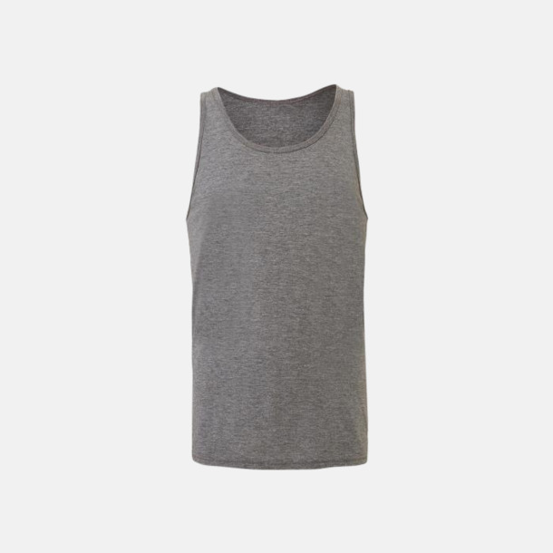Grey Triblend (heather) Bomullslinnen i unisexmodell med reklamtryck