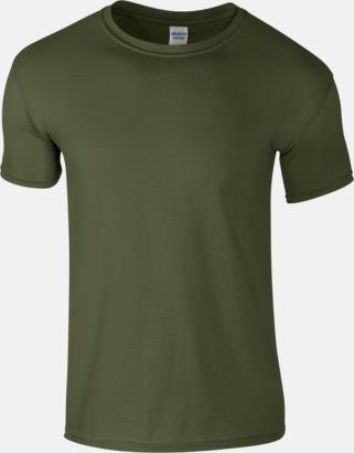 Militärgrön Billiga t-shirts med tryck