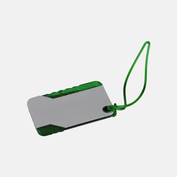 Grön / Silver Bagagebricka med bläckpenna - med reklamtryck