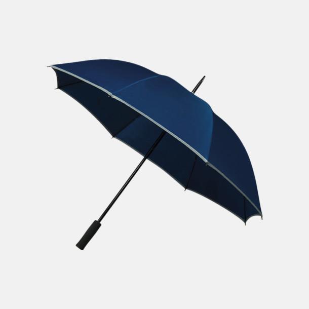 Marinblå (PMS 280C) Paraplyer med reklamtryck
