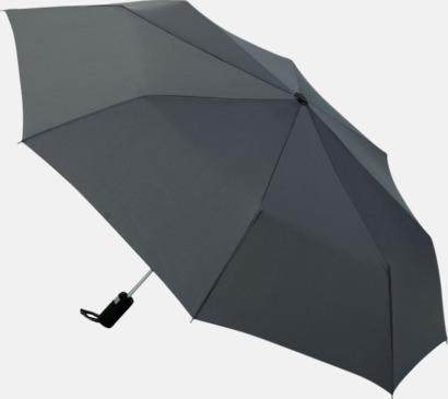 Grå Kompaktparaplyer med automatisk uppfällning