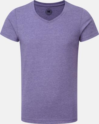 Purple Marl (v-neck pojke) Barn t-shirts i u- och v-hals med reklamtryck