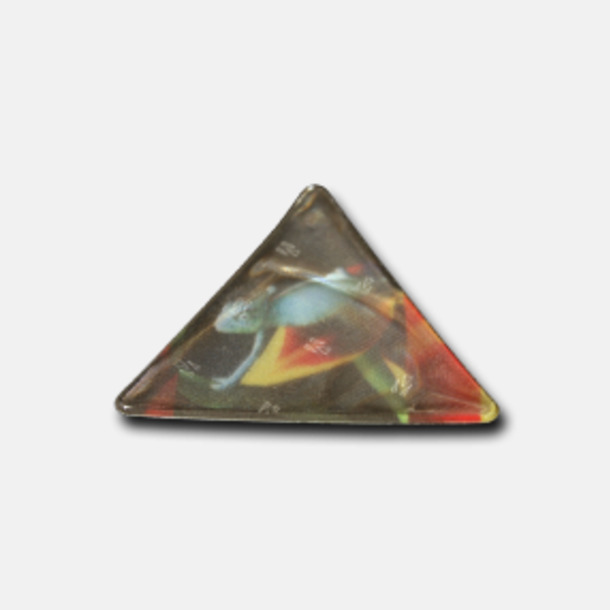 Prisgrupp 1 (Triangel) Reflexklisterlapp med reklamtryck