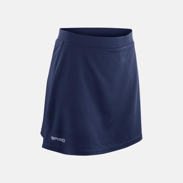 Marinblå (dam) Sportkjolar med reklamtryck