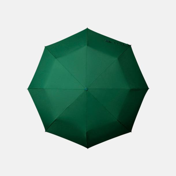 Mörkgrön Paraplyer med tryck