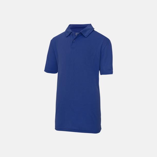 Royal Blue Barnpikétröjor i många färger - med reklamtryck