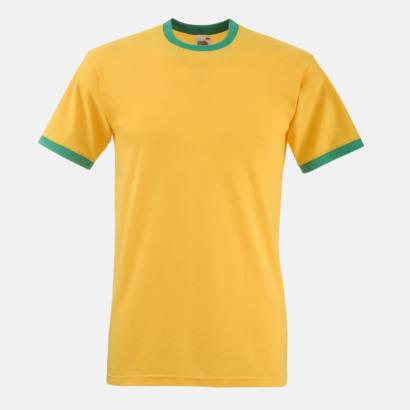 Sunflower/Kelly Green T-shirt med kontrasterande färger - med reklamtryck