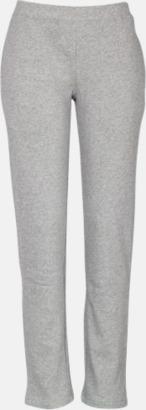 Grey Melange Joggingbyxor i herr- och dammodell med reklambrodyr