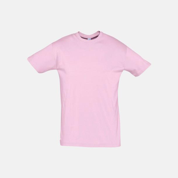 Medium Pink Billiga unisex t-shirts i många färger med reklamtryck