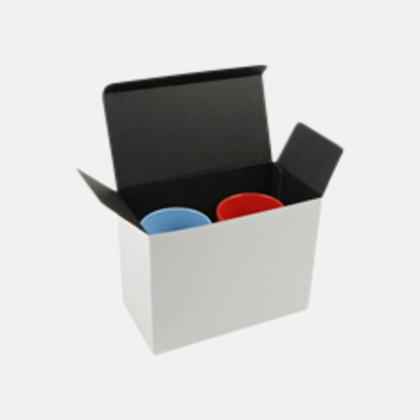Presentförpackning 2-pack Klassiska kaffemuggar med eget tryck