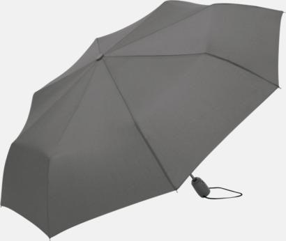 Grå Kompakta paraplyer med eget tryck