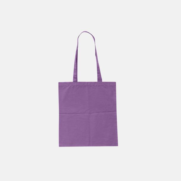 Violet (pms 2603U) Billiga tygkassar med tryck