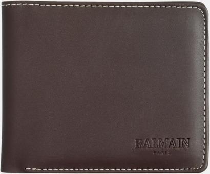 Plånbok (brun) Exklusivt presentset från Balmain med reklamtryck