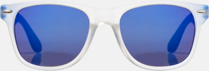 Blå (2) Snygga och säkra solglasögon med färgade linser - med reklamtryck