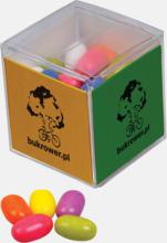 Kubformade tablettaskar med reklamtryck