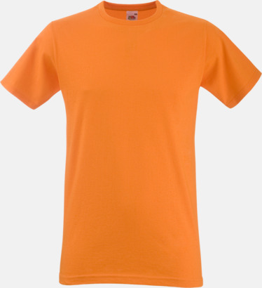 Orange Tajtare reklamt-shirt med figurnära passform