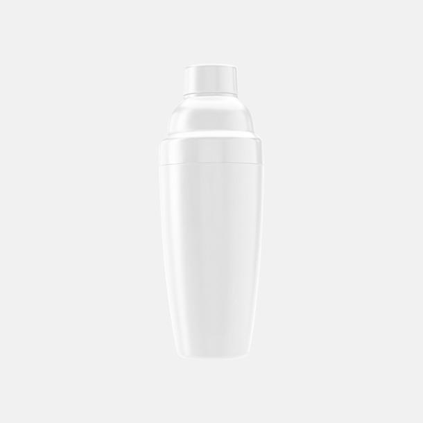 Vit Drinkskakare i plast med reklamtryck
