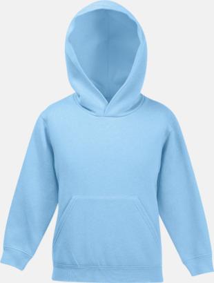 Sky Blue Huvtröjor för barn i många färger med reklamtryck