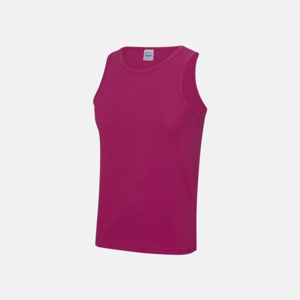 Hot Pink (unisex) Enfärgade funktionslinnen i unisex-, dam & barnmodell med reklamtryck