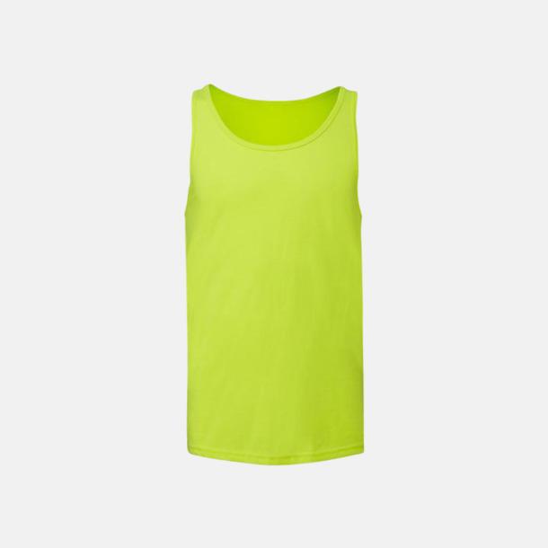 Neon Yellow Bomullslinnen i unisexmodell med reklamtryck