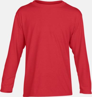 Röd (barn) Långärmade funktionströjor för vuxna och barn med reklamtryck