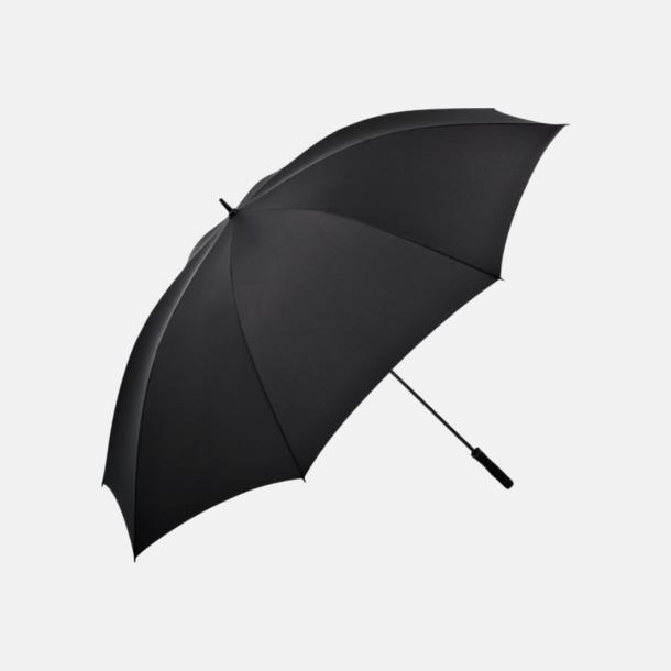 Svart Superstora paraplyer för 5 personer - med reklamtryck