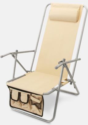 Off-white (de luxe) Lyxig brassestol med kudde och väska med eget reklamtryck